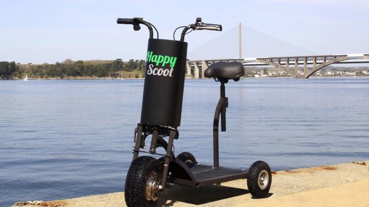 HappyScoot, trottinette électrique à 3 roues, seniors, personnes a mobilité réduite