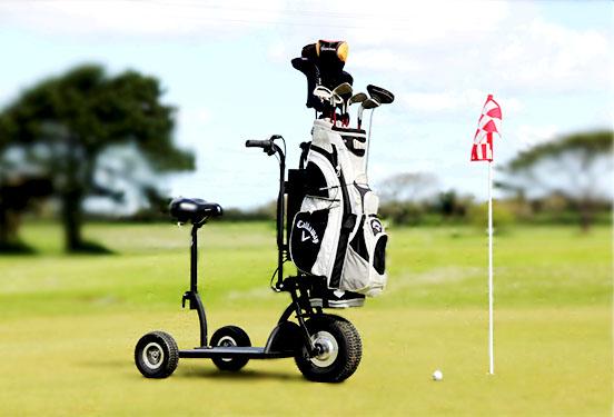 faire du golf en trottinette électrique
