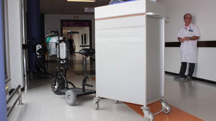 La trottinette medical HAPPY SCOOT vous permet   de vous déplacer en milieu hospitalier